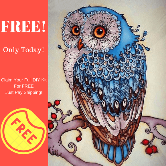 FREE Owl Diamond Painting