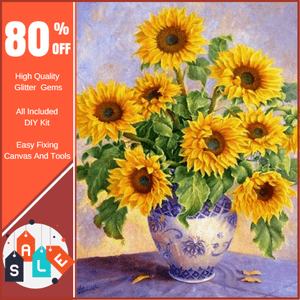 Sunflower Vase Diamond Painting
