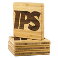 IPS Bamboo Coaster Set