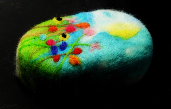Felted Soap Summer field