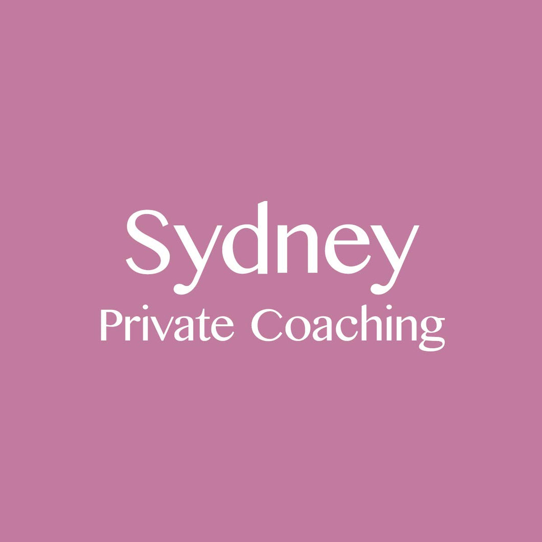 Sydney 9/10/2018: Private Coaching Session