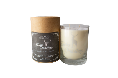 Sandalwood and Suede Double Wick Candle