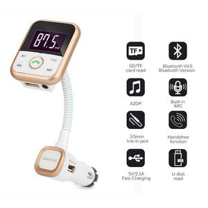 Bluetooth Car Kit MP3 Player FM Transmitter With LCD and Remote Control-Eirhub