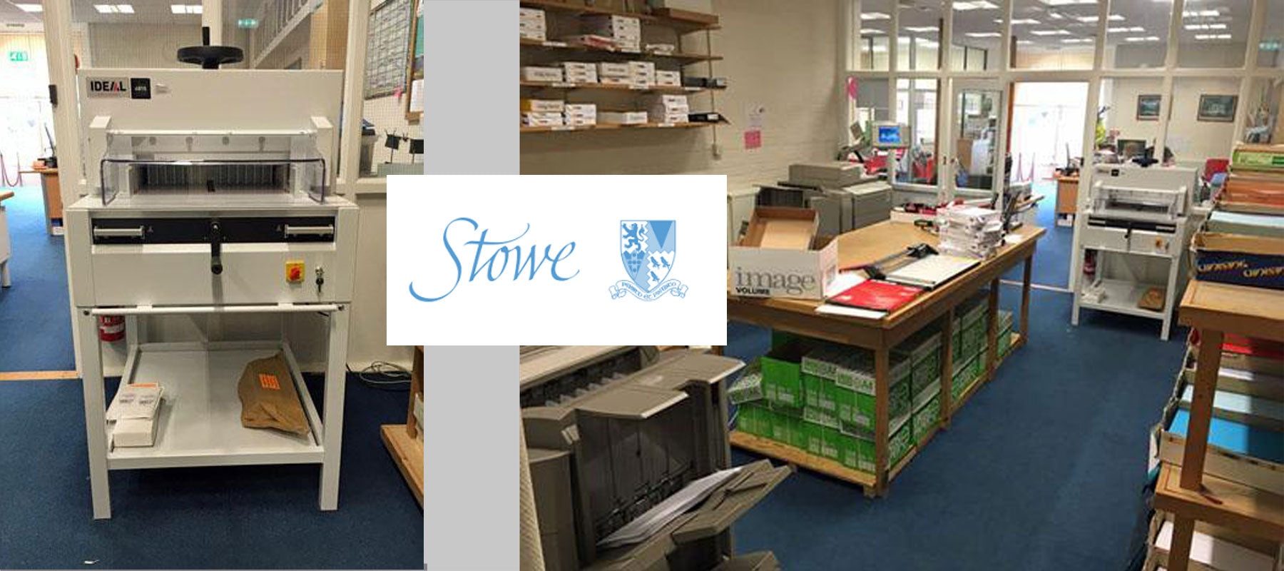 Stowe School upgrade to a new Ideal 4815 Guillotine