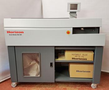 Used / Pre-owned Horizon BQ160 Hot Glue Binder + CRB 160 Cover Creaser