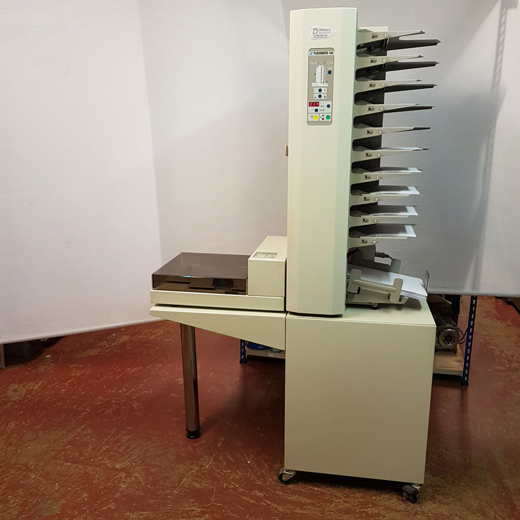 Used / Pre-owned Plockmatic 410 Collator + Plockmatic 91 Stapler