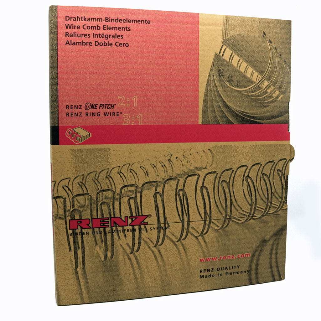 box of 250 9//16 Renz No.9 A4 3:1 Binding Wire Element Combs White