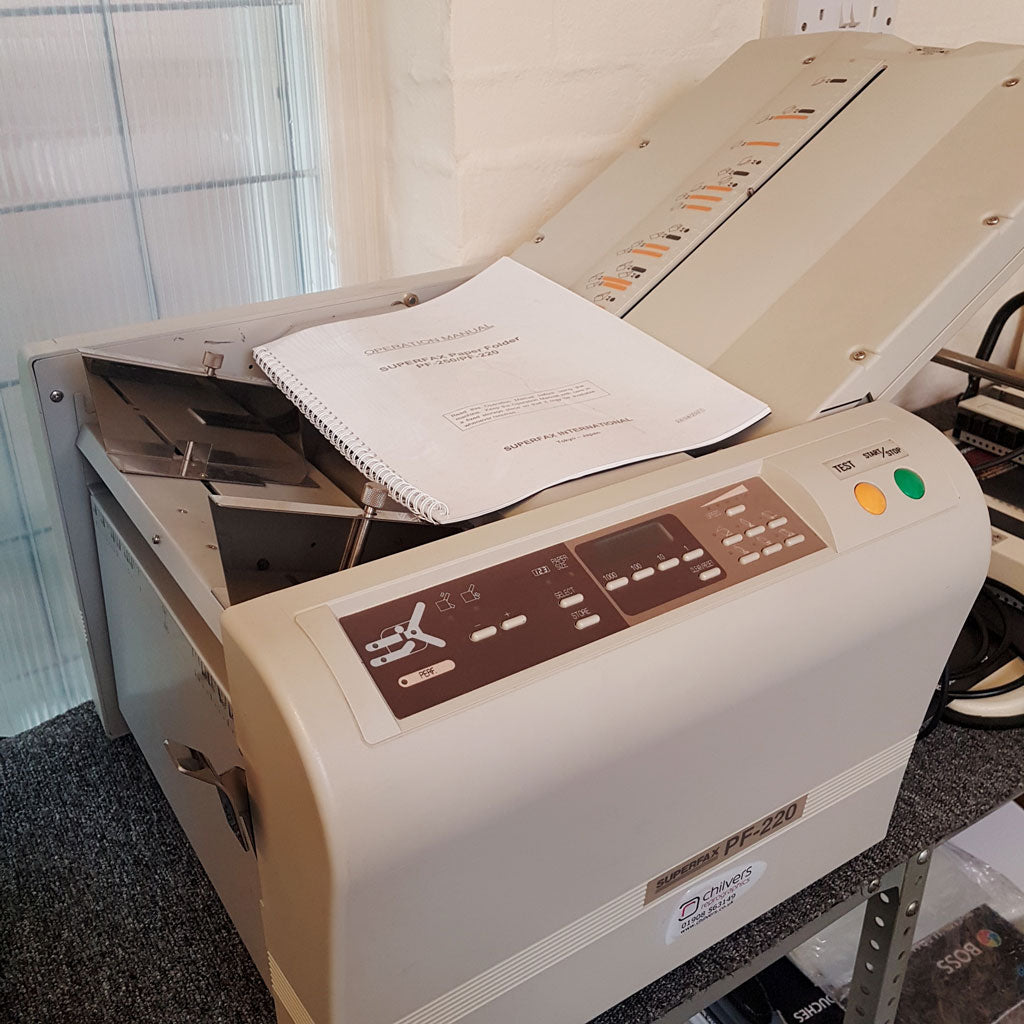 Used / Pre-owned Superfax PF-220 Paper Folder