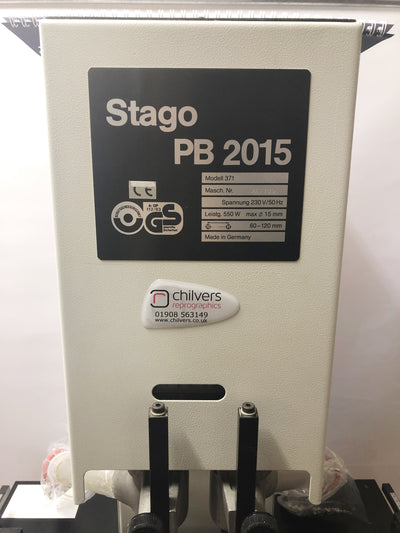 Used / Pre-owned Stago PB 2015 Twin Hole Paper Drill (Floor Standing)