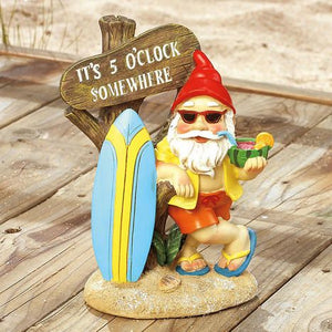 Surfing Beach Vacation Gnome