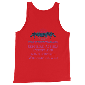 Reptilian Agenda Expert and Mind Control Whistle-blower tank top!!!!