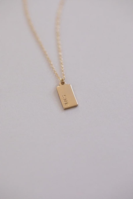 Gold Mini Tag Necklace