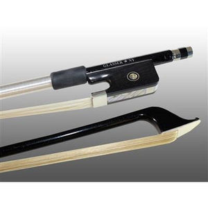 Cello Bow Carbon Graphite, Fully-Lined Ebony Frog, Nickel Wire Grip - Aria Muzic