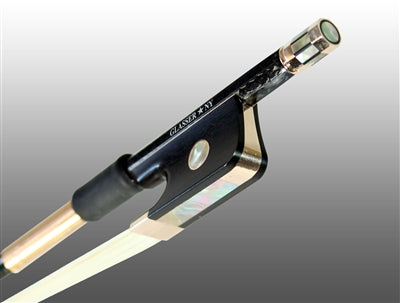 Cello Bow Braided Carbon Fiber Octagonal, Fully Lined Ebony Frog, 585 Gold Grip & Tip - Aria Muzic