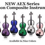 Glasser AEX Carbon Composite Acoustic Electric 4 String Violin, Red plus string - Aria Muzic