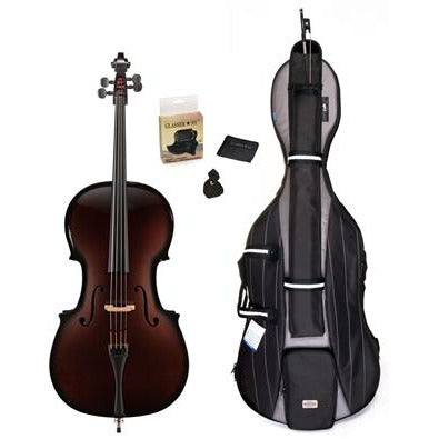 Glasser Carbon Composite Acoustic Cello - 5 String Outfit - Aria Muzic