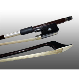 Bass Bow French Advanced Composite Fully-Lined Ebony Frog, Nickel Wire Grip - Aria Muzic