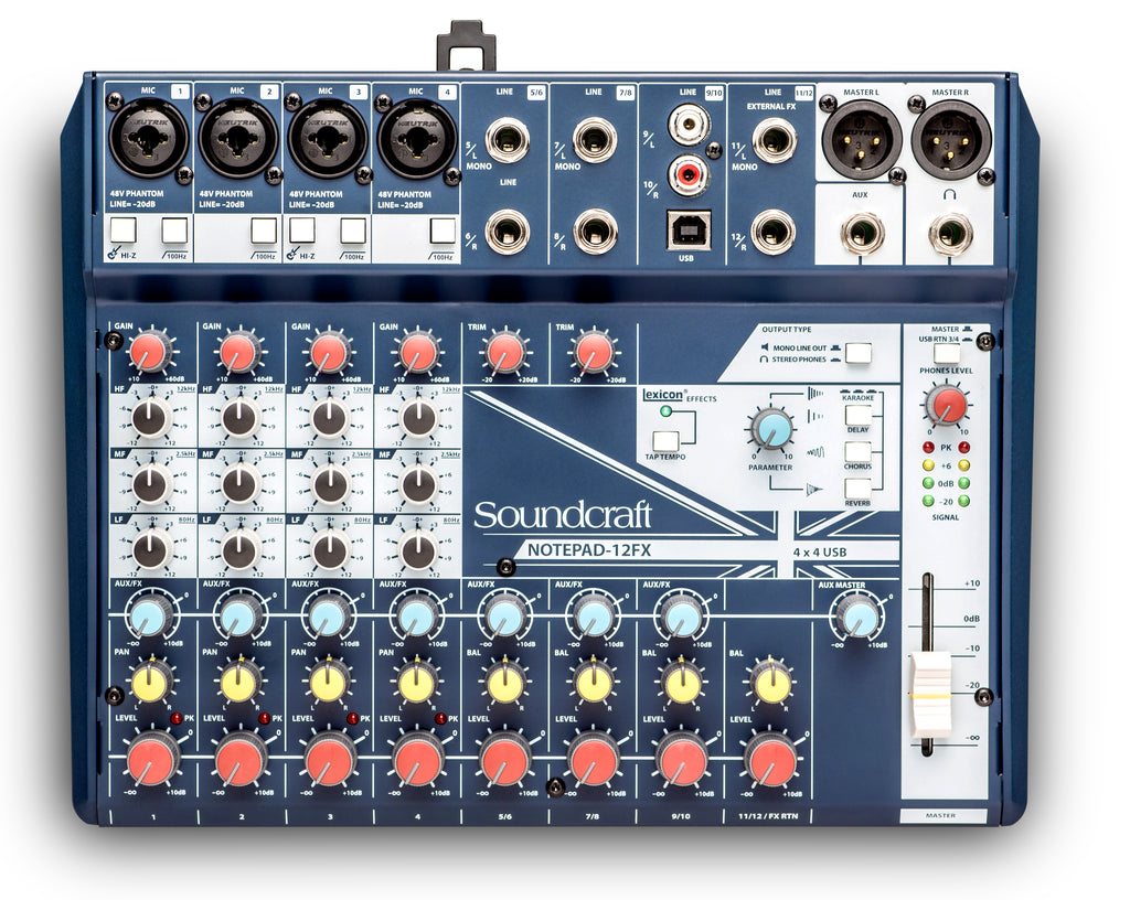 Soundcraft Notepad-12FX Small-Format Analog Mixing Console