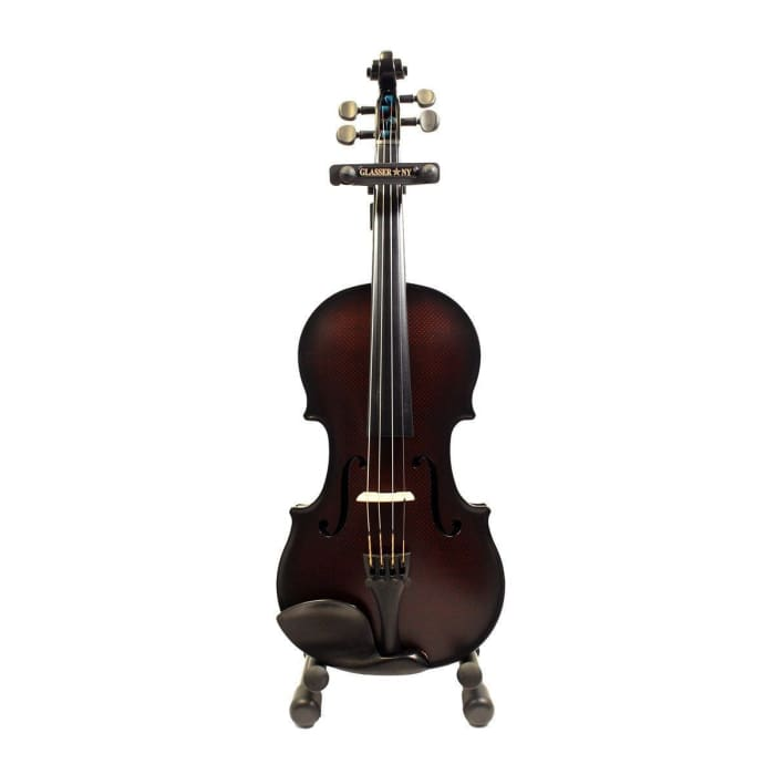 Glasser Carbon Composite Acoustic-Electric 5-String Violin, 4/4 With Outfit