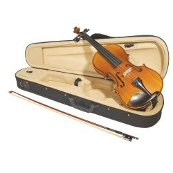 John Juzek Violin Outfit Student Model 85 with Case, Bow, and Rosin - Aria Muzic