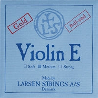 Larsen  Violin Premium Set W/Gold E W Silver D Medium Ball