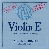 Larsen Violin Premium Set W/Gold E W/Solver D Strong Ball