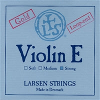 Larsen Violin Premium Set W/Gold E W/Silver D Strong Loop