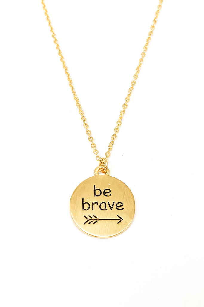 Be Brave Word Necklace