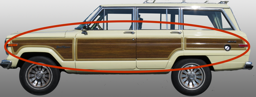 Single-Side Replacement Woodgrain Panel Kit