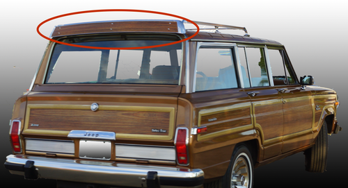 Wind Deflector Replacement Woodgrain Panel