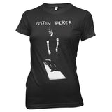 Justin Bieber On The Floor - Womens Black T-Shirt