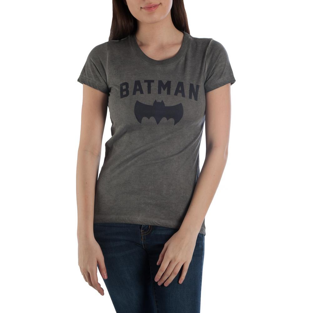 Batman Bat High Low Boyfriend Juniors Top T-shirt Tee Shirt