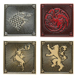 Game Of Thrones House Targaryen Lannister Baratheon Stark Lapel Pin 4 Pack