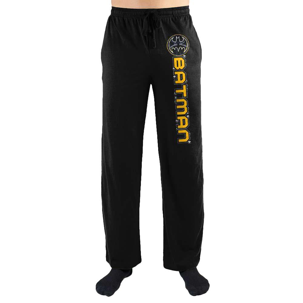 Batman DC Comics Logo Racing Stripe Night Lounge Sleep Pants For Men