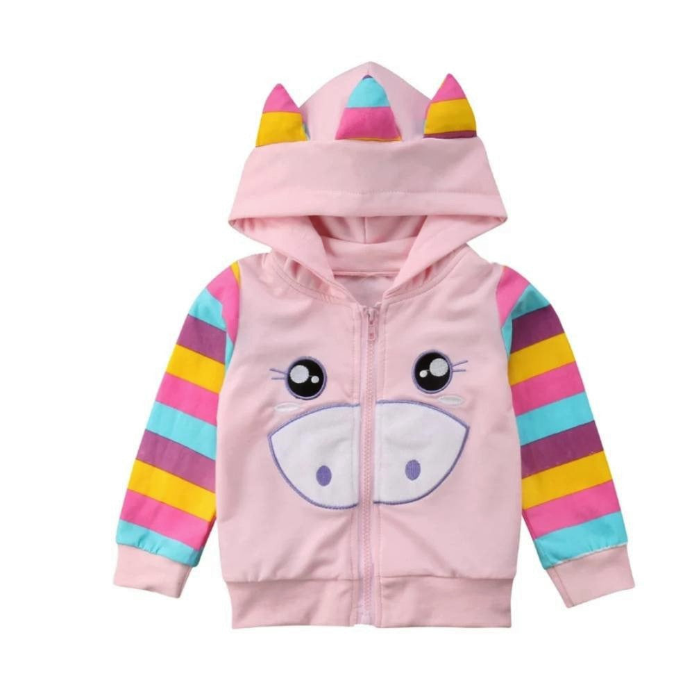 Unicorn Toddler Kids Girl Hoodie Jumper Pullover Sweatshirt Jacket Tops Hoodies