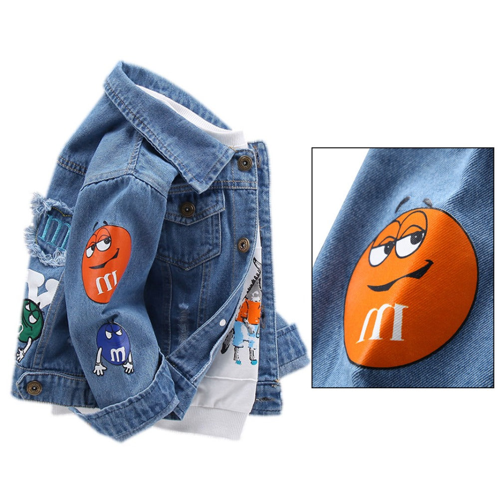 3T Toddler Boy M/&M Denim Jacket AVAILABLE IN SIZE: 2T 4T 5T