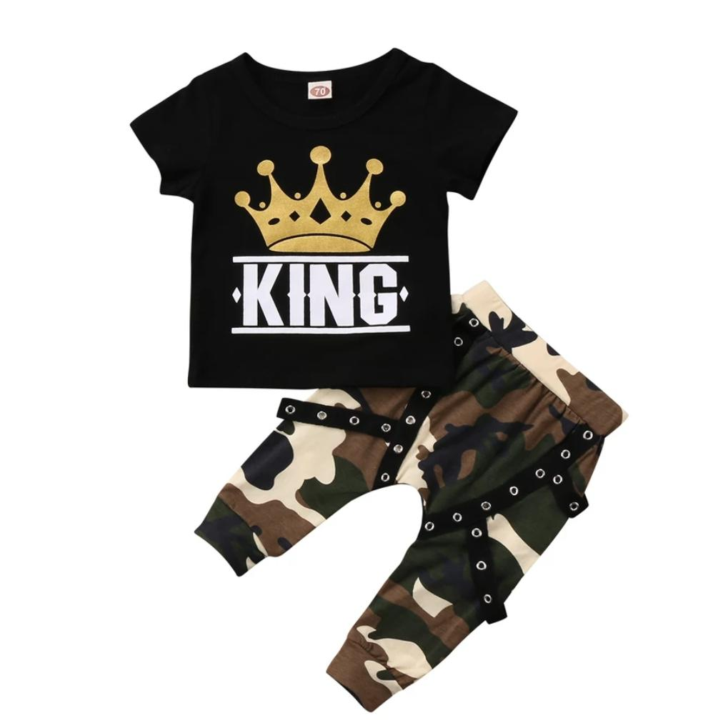 0f4342cd27733 Baby Boy Camouflage King 2-Piece Set