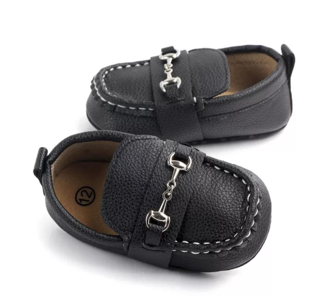 Baby Boy Leather Loafer Shoes
