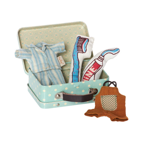 Maileg Bedtime Mouse Blue Suitcase
