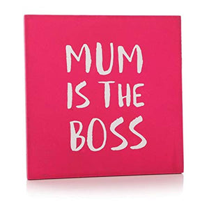 Shruti Designs Mum is the Boss Fuchsia Pink Coaster