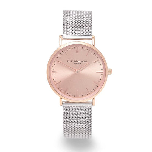 Elie Beaumont Oxford Small Mesh Two Tone Watch