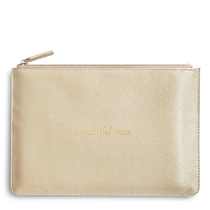 Katie Loxton Wonderful Mum Shimmering Gold Pouch