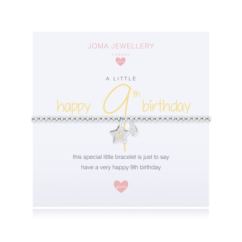 Joma Jewellery A Little Happy 9th Birthday Girls Bracelet