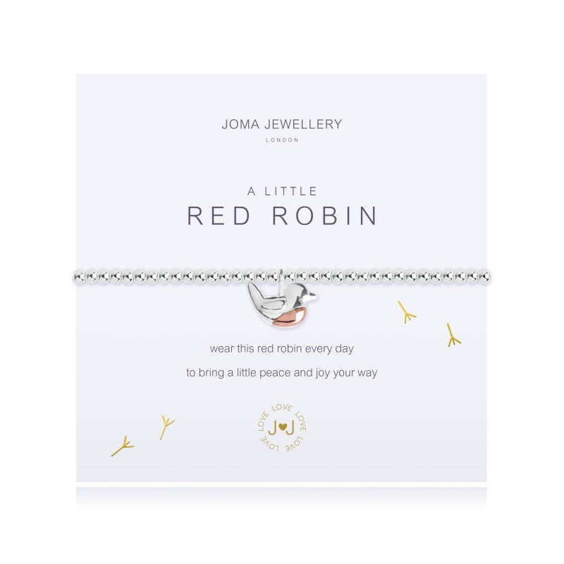Joma Jewellery A Little Red Robin Bracelet
