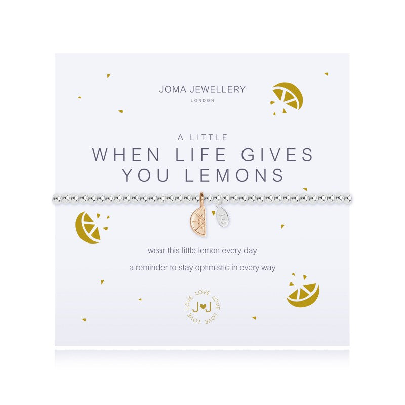 Joma Jewellery A Little When Life Gives You Lemons Bracelet