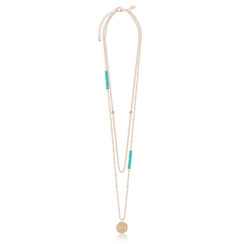 Joma Jewellery Gold Boho Coin Happiness Necklace