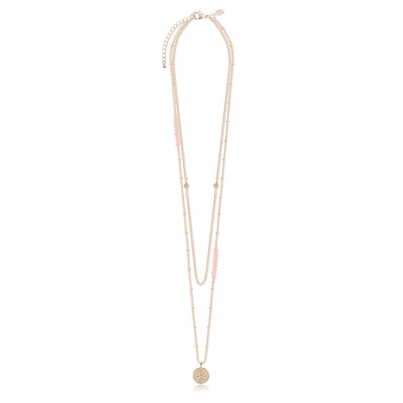 Joma Jewellery Gold Boho Coin Love Necklace
