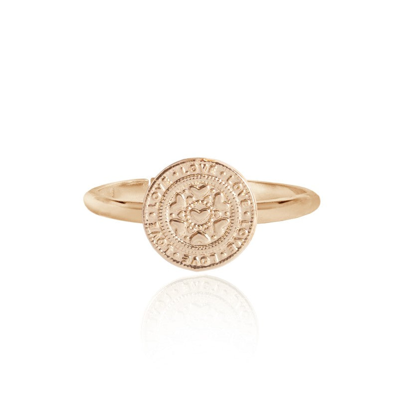 Joma Jewellery Gold Boho Coin Love Ring