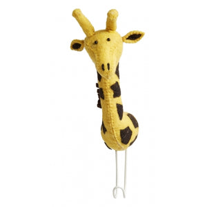Fiona Walker England Felt Giraffe Head Coat Hook