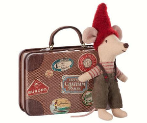 Maileg Travel Mouse and Suitcase